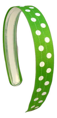 Green headband, polka dot headband, infinity headband