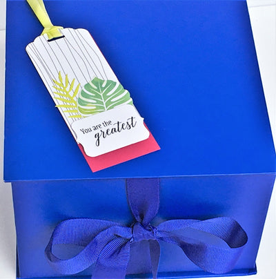 Hand Made Gift Tags- FRIENDS set of 8 - Infinity Headbands by Ambrosia Designs