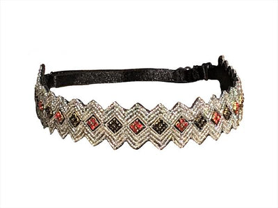 Silver Black and Red adjustable headband