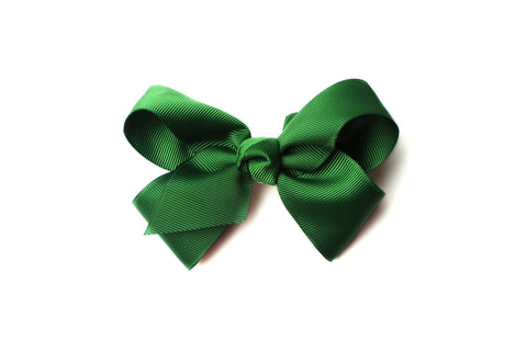 Large Emerald Green Bow, hair bows, girls hair bow
