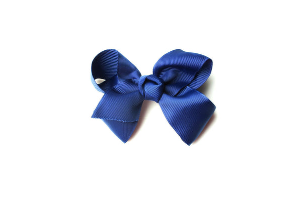 Large Navy Bow, girls hair bows