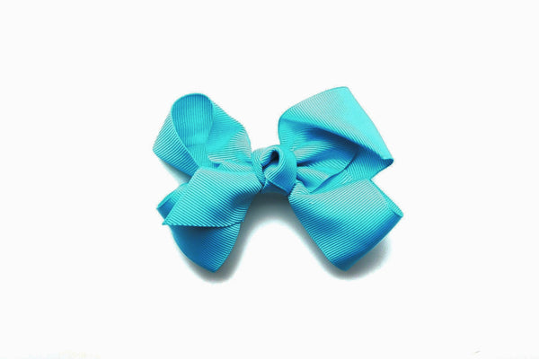 Large Turquoise Bow, girls hair bows
