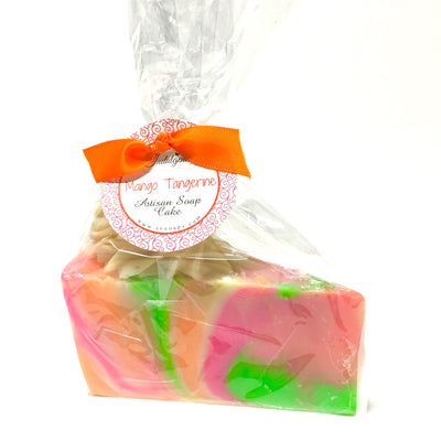 Mango Tangerine soap slice in package