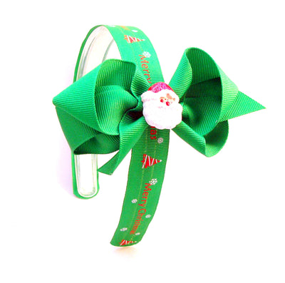 Christmas Santa Bow - Infinity Headbands by Ambrosia Designs