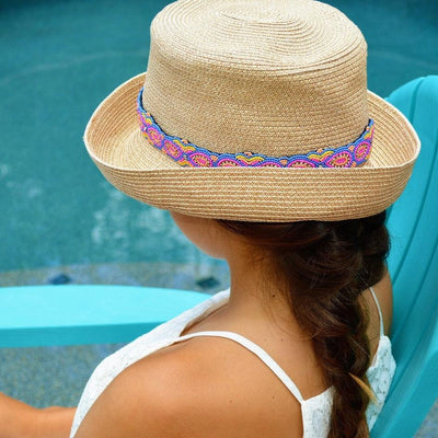 Pastel beaded Sun Hat Band