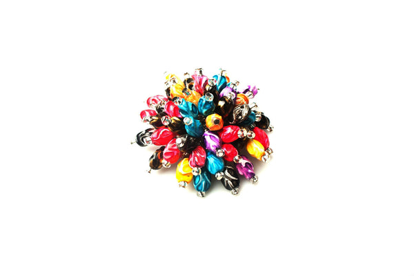 beaded hair accessory,  colorful beaded hair jewel, Multi Color bead embellishment,