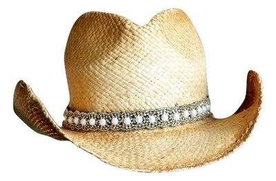 Nicole Beaded Cowboy Hat Band with pearls