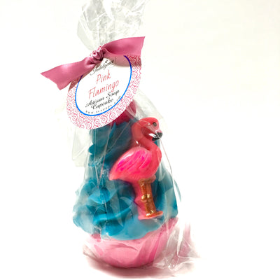 packaged pink flamingo soap