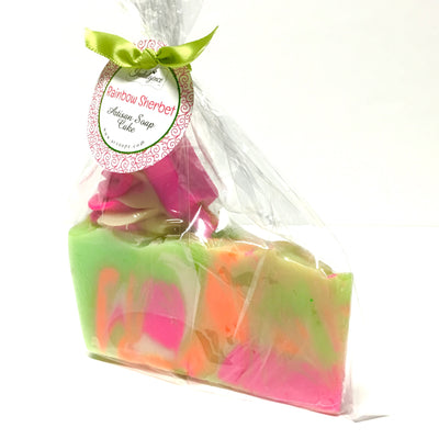 rainboy sherbet soap slice in package