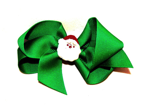 Christmas Bow, Santa Bow, green bow
