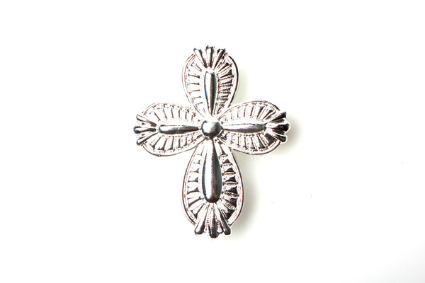 Silver Cross, hair jewelry