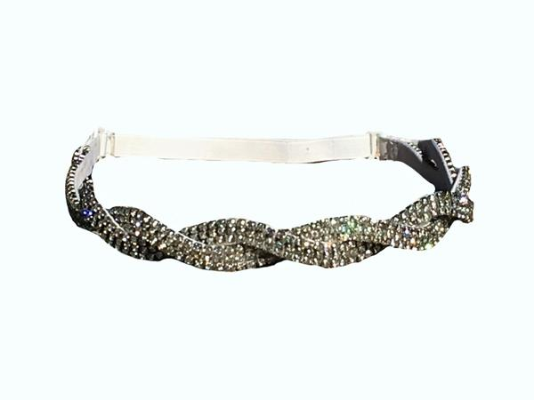 Adjustable Silver twist headband for brides