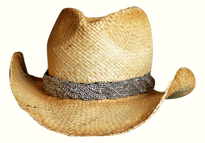 silver hat band for cowboy hats, western hats