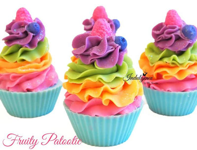Fruity Patootie Artisan Vegan Soap Cupcake - fruit scented soap