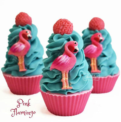 Pink Flamingo Artisan Cupcake - luxurious essential oil soaps