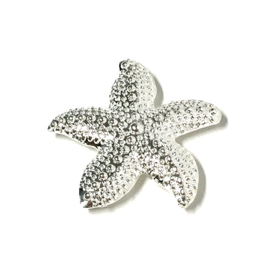 Candle Magnet in silver - Starfish shaped magnet