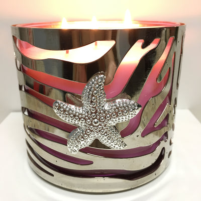 Starfish Candle Magnet - silver magnet - starfish