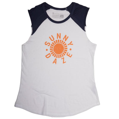 Navy and white team tank Sunny Daze