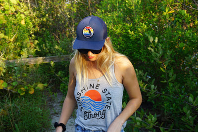 Gray Tank Top with Sunshine State Design