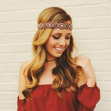 Boho Headband Garnet and Gold, FSU, Gameday