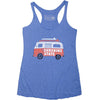 Cute Muscle Tank Top in heather blue with Good vibes van