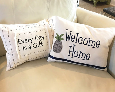 Welcome Home Pillow - Infinity Headbands by Ambrosia Designs