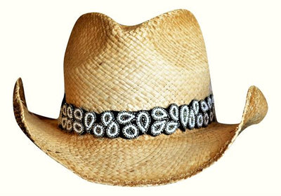White and black Cowboy hat band