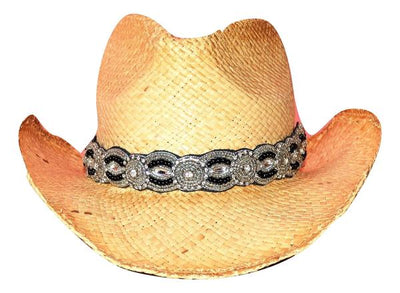 Black and Silver hat band