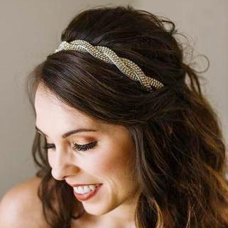 Kate Bridal Headband -Crystal hand beaded headband