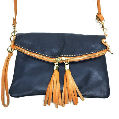 navy blue handbag, blue leather handbag, blue purse