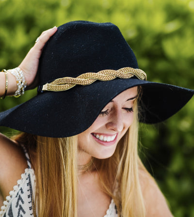 Gold braided twist Sun Hat Band