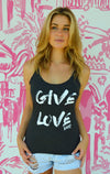 Give Love Black Tank T-Shirt