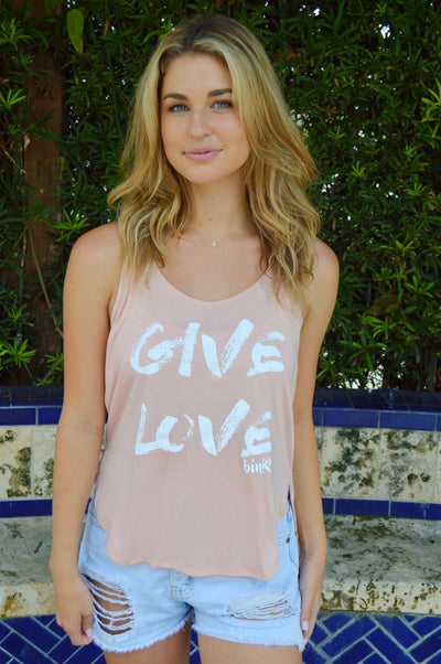 Give Love Pink Tank T-Shirt