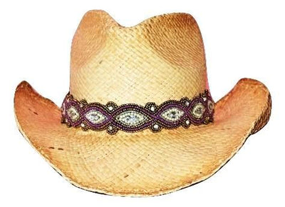 Adjustable Beaded Cowboy Hat Band