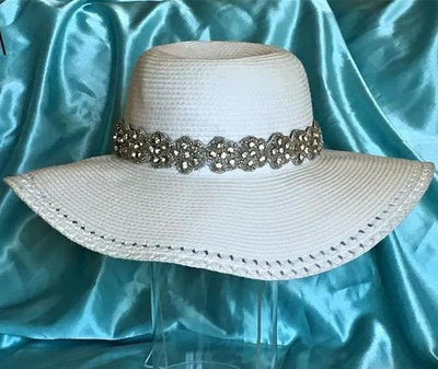 rhinestone Beaded Hat Band for Sun hats