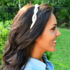 crystal beaded twist headband