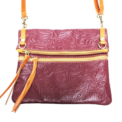 leather handbag, burgundy italian leather purse, burgundy leather crossbody purse
