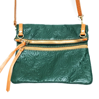 handbag, Green Leather purse, green handbag, green italian leather purse
