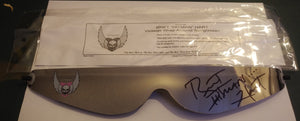 Official Bret 'Hitman' Hart Signed in Black Wrap Around Glasses