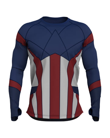CAPTAIN AMERICA Long Sleeve Performance Shirt