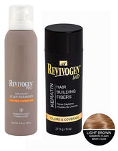 Revivogen Keratin Hair Fibers & Scalp Cleanser Set