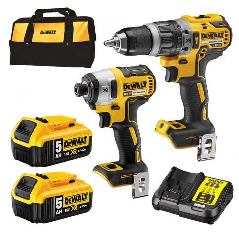 Dewalt 18V Li-Ion 2pc Combination Kit (2 x 5AH Battery)