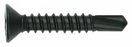 Tek Screw - Countersunk Square Stainless Black