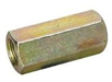 Threaded Rod Coupler Nut Zinc Yellow