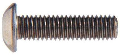 M12 Button Socket Screw Metric Stainless 304