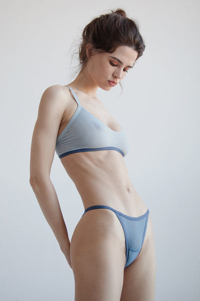 Azure sheer mesh tango brief