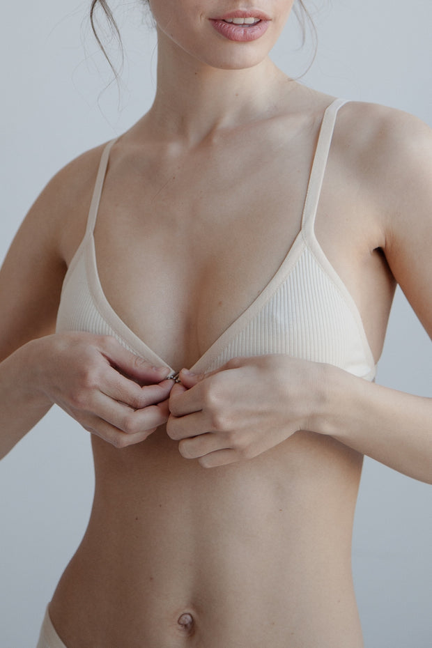 Bra 2 / ribbed cotton / nude
