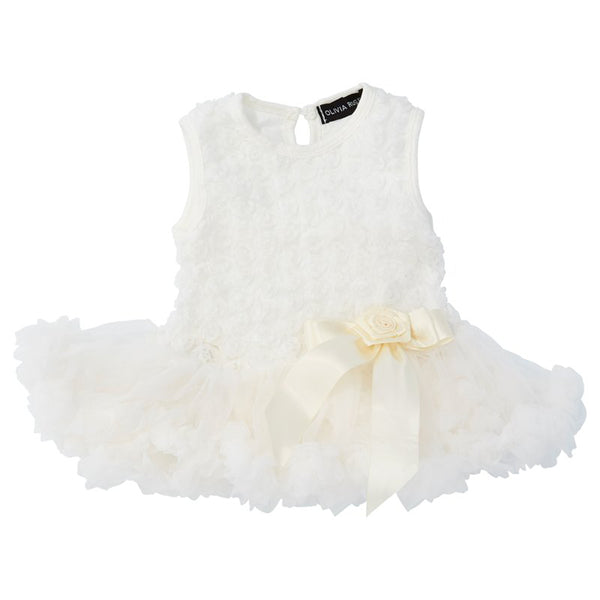 Off-white-Baby Rosette Pettidress