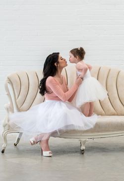 Mommy and Me Matching Tulle Skirt Set Tea Length