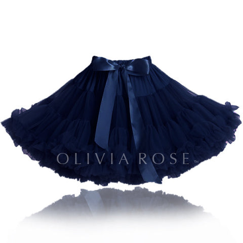 OLIVIA ROSE LITTLE GIRLS NAVY PETTISKIRT